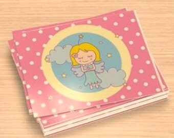 kawaii- ''praying sweet angel'' -- postcards (set of 5)-- (ship in 1 day)