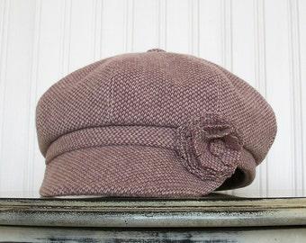 Lilac Newsboy Hat Womens Hat - Wool Newsboy Hat Lilac Hat - Womens Purple Hat Newsboy Cap - MADE TO ORDER