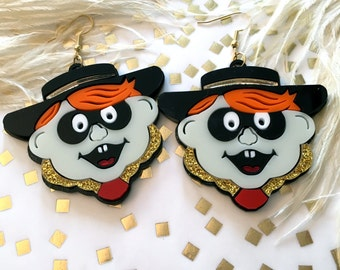 McDonalds hamburglar Laser Cut Earrings