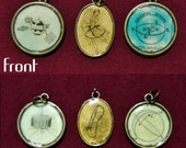 Choice of DOUBLE-SIDED Dictionary Pendant (Small Circles)