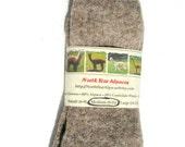Womens Socks - Alpaca Wool Socks Grown in Michigan - Medium Size - Great Gift