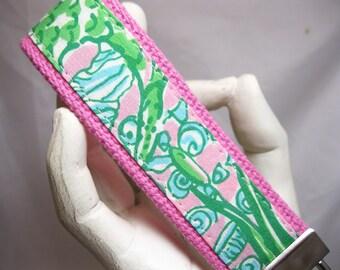 Wristlet Keychain Womens Key Fob Lilly Pulitzer Pattern