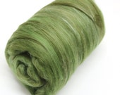 Carded Batt Merino & Silk Olive Tree Fine Merino Wool XL Spinning and Felting Fibre
