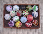 Rag Ball Ornament or bowl filler  for an old fashioned Christmas