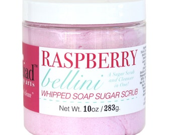 Raspberry Bellini Whipped Soap Sugar Scrub