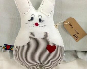 Lil Love Bunny Valentine Stuffed Animal
