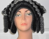 CLEARANCE Freeform Freestyle Crochet Hat with Corkscrews Priced Marked is the Sale Price