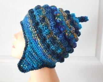 CLEARANCE  Freeform Freestyle Crochet Helmet Hat Price Marked is Sale Price