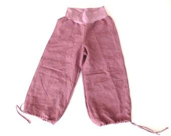 SALE 012 Hemp Drawstring Cuff Ontario Pants Size Small or Medium Ready to Ship