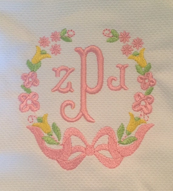 Satin Fill Bow Embroidery Design