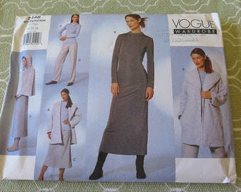 Vogue 2448 Wardrobe Sewing Pattern Misses Coat Cape Dress Top Skirt and Pants size 20 22 24 UNCUT
