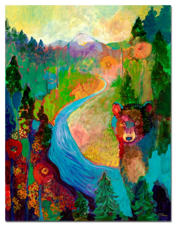 i am the mountain stream - Fine Art Print by Jenlo