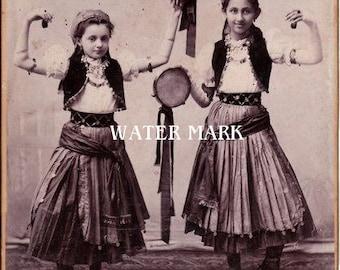 Gypsy children*Dancing*Dear*Bohemian**BOHO*Quilt art fabric block*Quilts,Pillows,Sachets,Frame