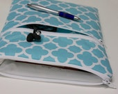 12 inch MacBook Laptop Case 13 inch MacBook Pro Cover Sleeve for Women or Girls - Aqua Quatrefoil