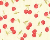 Farmhouse - Vintage Cherries in Milk: sku 20251-14 cotton quilting fabric by Fig Tree and Co for Moda Fabrics - 1 yard