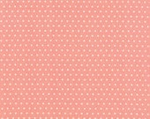 Vintage Picnic - Spot in Coral Pink: sku 55128-13 cotton quilting fabric by Bonnie and Camille for Moda Fabrics - 1 yard