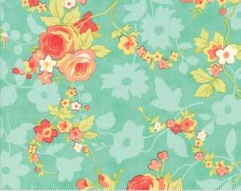 "34"" piece/remnant - Chestnut Street - Chestnut Blooms in Blueberry: sku 20270-13 cotton quilting fabric by Fig Tree and Co. for Moda Fabrics"