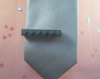 Gray Building Brick Tie Clip