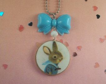 Bunny Bow Necklace