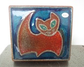 Soholm Pottery Cat Plaque by Joseph Simon