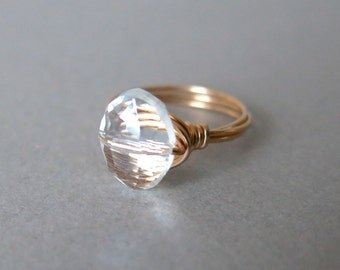 Oval Crystal Bauble Ring
