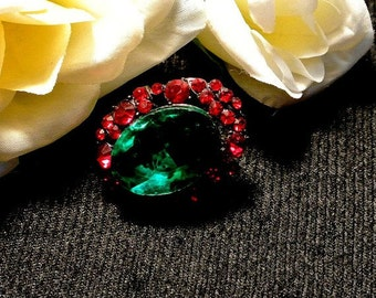 Back To School Red Green Thumbtack Pushpin, Jeweled Thumb Tack Push Pin, Cork Board Accessory