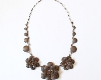 Vintage Sterling Mexico Flower Necklace