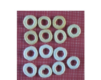 Collection of Vintage Crochet Covered Rings