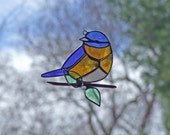 RESERVED for Marcia Wright - Stained Glass Bluebird - Recycled Glass Bluebird - Eco Friendly Nature Gift
