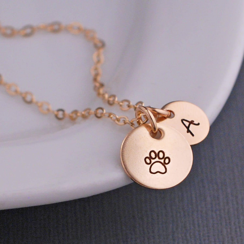 Custom Dog Paw Necklace