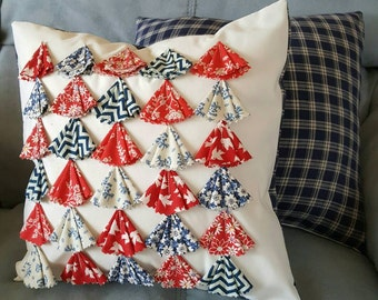 Fabric Scrap Decorative Pillow