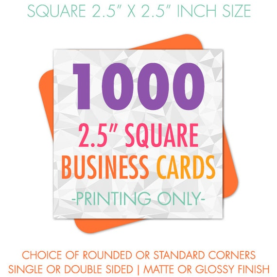 Business cards business card printing 1000 square business for Business cards 1000