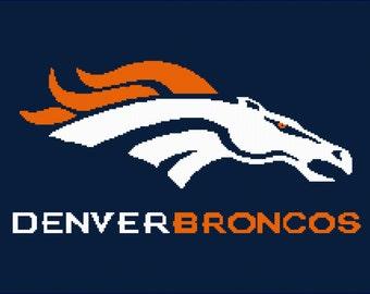 Written Instructions for Denver Broncos Afghan pattern ( ready for download)