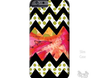 Chevron iPhone 6s Case, iPhone 6s plus case, Floral, whimsy, iPhone 6 case, iPhone cover, iPhone 5S case, iPhone 6 plus case, Galaxy S6 Case