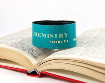Organic Chemistry - Book Spine Bracelet - made from recycled vintage book by Rebound Designs