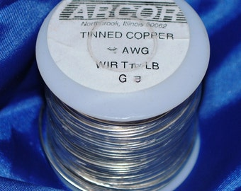 SAVE Money 1 lb roll (16 oz) 20 gauge tinned copper Wire. a 315 FOOT roll to make Jump Rings, Solder Accents etc.  Silver color.