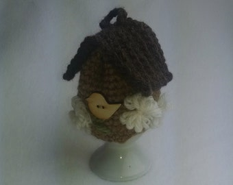 Egg Cozy Egg Cosy Egg Warmer -  soft boiled egg wool cozy - birdhouse
