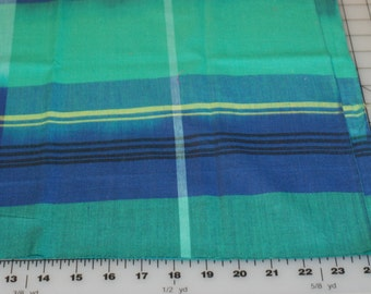 Anna Maria Horner Loominous Big Love Midnight woven cotton blue green plaid fabric shereesalchemy