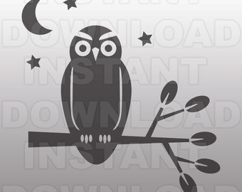 Owl SVG File -Commercial & Personal Use- Vector Art SVG for Cricut,Silhouette Cameo,iron on vinyl design