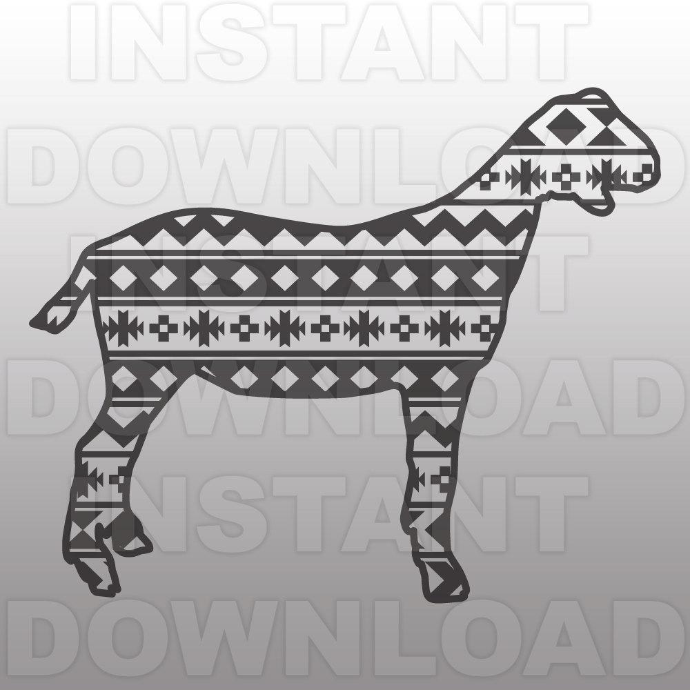 Download 4H SVG File FFA SVG File Market Goat Pattern svg