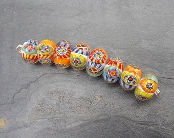 Candy Loops - SRA handmade glass lampwork beads Lori&Kim