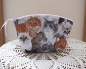 Purse Cosmetic Bag Zipper Clutch Cats Kittens Kitties