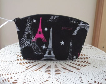 Essential Oils Clutch Cosmetic Bag  Purse Paris Eiffel Tower