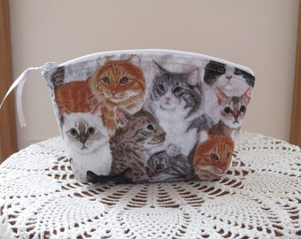 Essential Oils Case Purse Cosmetic Bag Zipper Clutch Cats Kittens Kitties