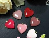 CH-EX-08055SA2- Nickel Free, Heart-shaped locket sampler, Rose, 6 pcs