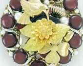 Half Off Sale Hand Mirror - Repurposed Jewelry - Hummingbird's Delight - M001072