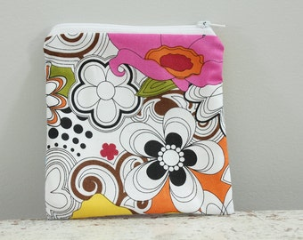 SALE Zipper Pouch bag by PETUNIAS cute girl boy present gift bag present birthday zipper bag