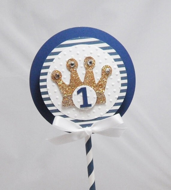 Little Prince Smash Cake Topper With Crown- Boy 1st