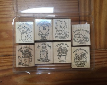 Greeting cards rubber stamp set by Stampin Up!