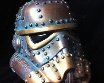 Bronze Steampunk Stormtrooper Helmet Star Wars Design A Vinyl helmet